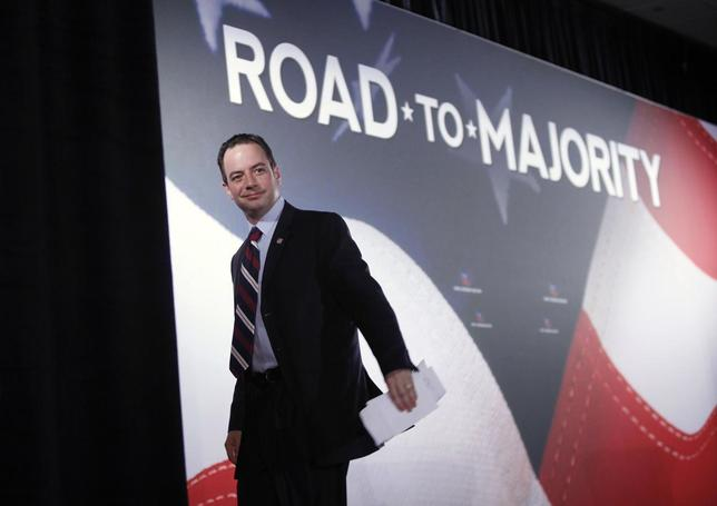 Republican National Committee Chairman Reince Priebus leaves the stage after addressing the Faith and Freedom Coalition ''Road to Majority'' conference in Washington June 15, 2013. REUTERS/Jonathan Ernst