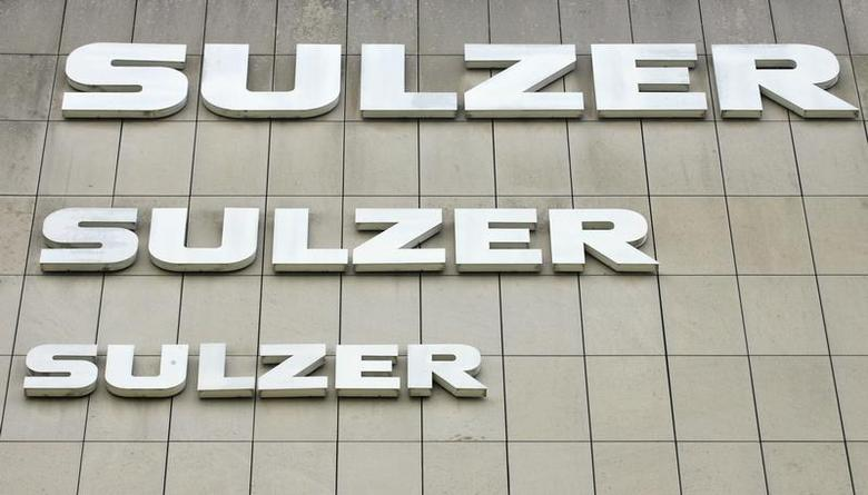 The logo of Swiss engineering group Sulzer AG is seen at an office building in the town of Winterthur north of Zurich June 24, 2009. REUTERS /Arnd Wiegmann