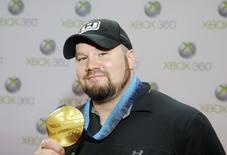 "Olympic Gold Medalist Steve Holcomb attends the premiere of ""Project Natal for XBox 360"" in Los Angeles June 13, 2010. REUTERS/Phil McCarten"