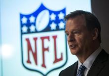 National Football League (NFL) commissioner Roger Goodell speaks at a news conference in New York January 23, 2014. REUTERS/Eric Thayer