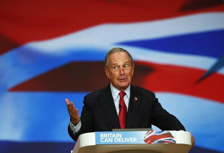 New York City Mayor Michael Bloomberg speaks at the Conservative Party conference in Birmingham, central England October 10, 2012 in this file photo. REUTERS/Darren Staples