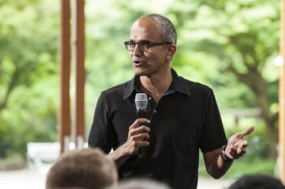 Nadella outran better-known candidates for Microsoft...