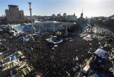 Митинг противников президента Украины Виктора Януковича на майдане в Киеве 2 февраля 2014 года.  REUTERS/Thomas Peter