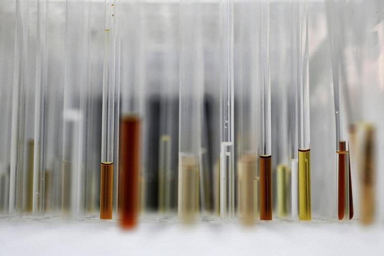 Sample analysis tubes are seen in a lab at the Institute of Cancer Research in Sutton, July 15, 2013. Picture taken July 15, 2013. REUTERS/Stefan Wermuth