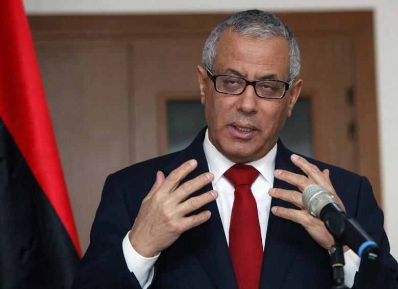 Libya's Prime Minister Ali Zeidan speaks during news conference in Tripoli February 3, 2014. REUTERS/Ismail Zitouny