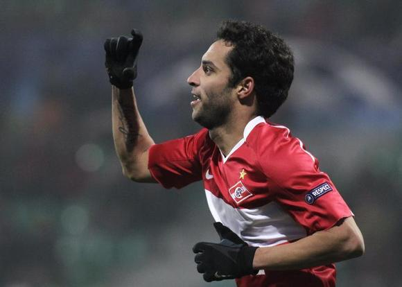 Spartak Moscow's Ibson celebrates after scoring against Zilina during their Champions League Group F soccer match in Zilina in this file December 8, 2010 photo. REUTERS/David W Cerny