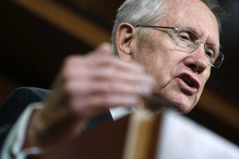 U.S. Senate Majority Leader Harry Reid (D-NV) addresses a news conference at the U.S. Capitol in Washington, January 16, 2014. REUTERS/Jonathan Ernst