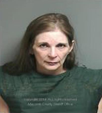 Donna Scrivo, 59, is seen in an undated police booking photo released by the Macomb County Sheriff's Office in St Clair Shores, Michigan. REUTERS/Macomb County Sheriff's Department/Handout via Reuters