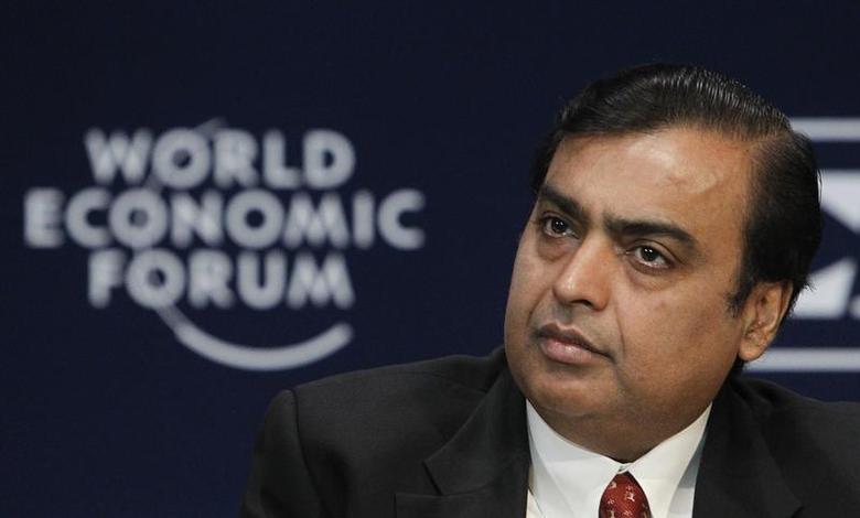 Chairman and Managing Director of Reliance Industries Mukesh Ambani attends the opening plenary session of the World Economic Forum (WEF) India Economic Summit in Mumbai November 13, 2011. REUTERS/Vivek Prakash