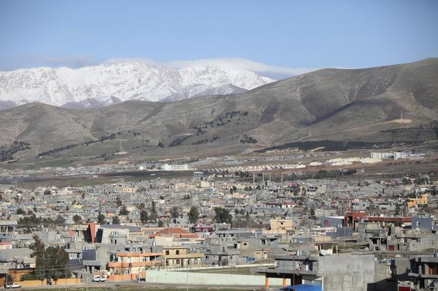 A view of the Kurdish town of Halabja, near Sulaimaniya, 260 km (160 miles) northeast of Baghdad, February 1, 2014. Picture taken February 1, 2014. REUTERS/Yahya Ahmad