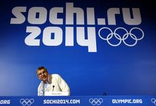 International Olympic Committee (IOC) President Thomas Bach arrives to attend a news conference in Sochi, February 23 2014. REUTERS/Eric Gaillard
