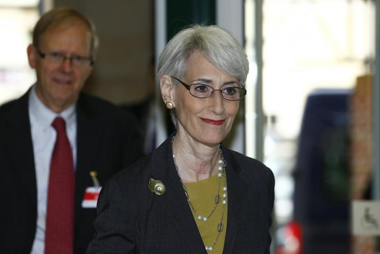 U.S. Under Secretary of State for Political Affairs Wendy Sherman arrives before the start of two days of closed-door nuclear talks at the United Nations offices in Geneva November 7, 2013. REUTERS/Denis Balibouse