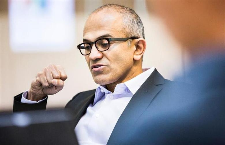 Satya Nadella is seen in this undated Microsoft handout photograph released on February 4, 2014. REUTERS/Microsoft/Handout via Reuters