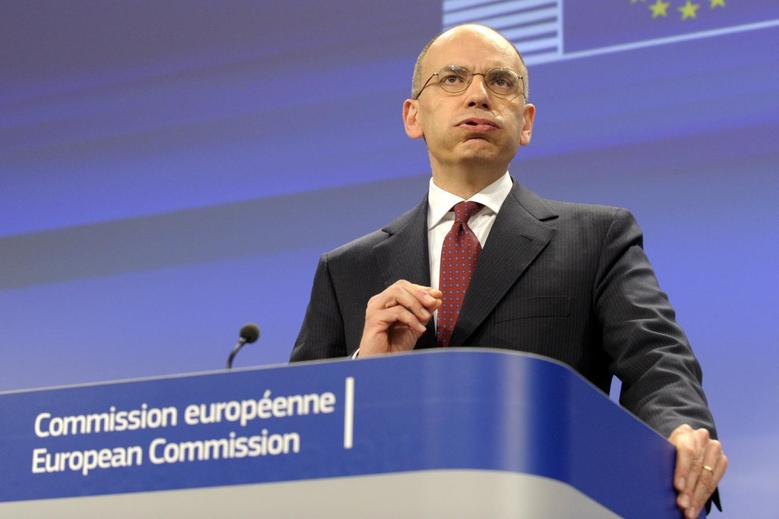 Italy's Prime Minister Enrico Letta holds a news conference at the EU Commission headquarters in Brussels January 29, 2014.REUTERS/Laurent Dubrule