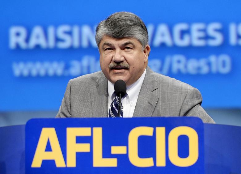 Richard Trumka, president of American Federation of Labor-Congress of Industrial Organizations (AFL-CIO), speaks during the AFL-CIO 2013 Convention in Los Angeles, California September 10, 2013. REUTERS/Kevork Djansezian