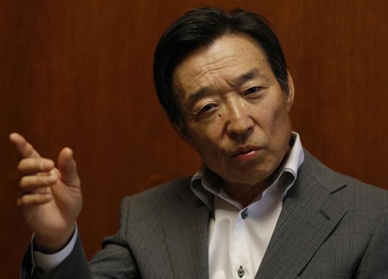 Bank of Japan's (BOJ) Deputy Governor Kikuo Iwata speaks during an interview with Reuters at the BOJ headquarters in Tokyo June 24, 2013. REUTERS/Toru Hanai