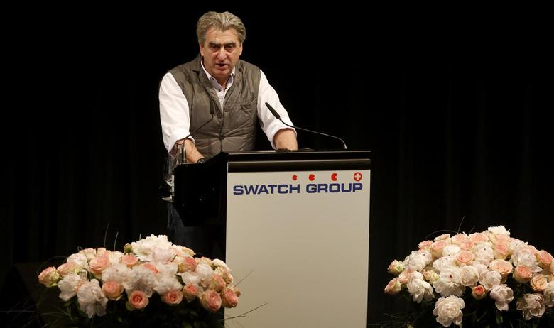 Swatch Group Chief Executive Officer Nick Hayek Jr addresses the company's annual general meeting in Biel some 45 kilometres north of Bern May 29, 2013. REUTERS/Arnd Wiegmann