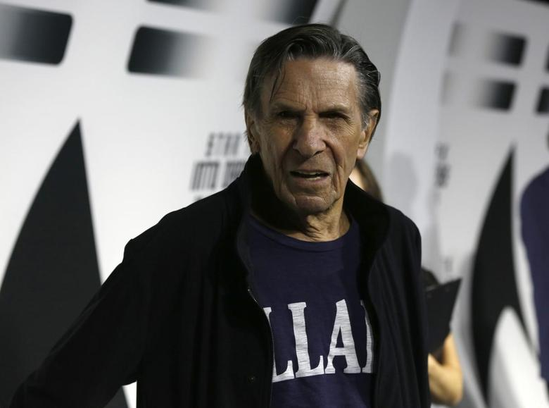 Cast member Leonard Nimoy poses at the party for the release of the Blu-Ray DVD of ''Star Trek Into Darkness'' at the California Science Center in Los Angeles, California September 10, 2013. REUTERS/Mario Anzuoni
