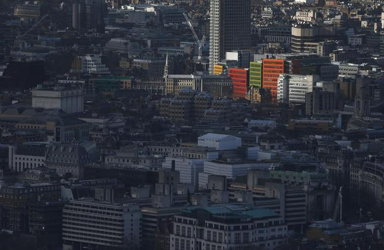 Colourful buildings in the West End of London are seen from The View gallery at the Shard, western Europe's tallest building, in London January 28, 2014. REUTERS/Suzanne Plunkett