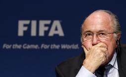 Fifa President Sepp Blatter attends a news conference after the meeting of Fifa's Executive Committee at the Home of FIFA in Zurich, October 21, 2011. REUTERS/Christian Hartmann
