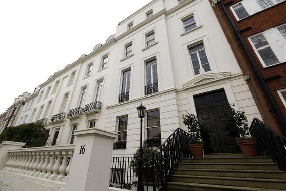 The five bedroomed property of 16 Cottesmore Gardens is seen in London December 1, 2011. REUTERS-Stefan Wermuth