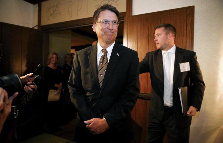 North Carolina governor Pat McCrory arrives for a celebration for evangelist Billy Graham's 95th birthday in Asheville, North Carolina November 7, 2013. REUTERS/Chris Keane