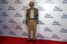 "U.S. director Woody Allen poses during the premiere of his film ""Blue Jasmine"" in Paris in this August 27, 2013 file photo. REUTERS/Charles Platiau/Files"