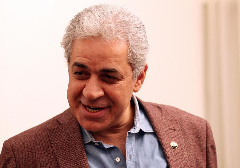 Leftist leader Hamdeen Sabahi speaks during an interview with Reuters in Cairo, April 29, 2013. REUTERS/Asmaa Waguih