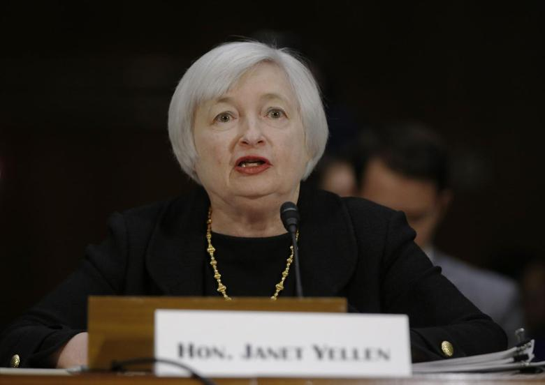 Janet Yellen, President Barack Obama's nominee to lead the U.S. Federal Reserve, testifies at her U.S. Senate Banking Committee confirmation hearing in Washington November 14, 2013. REUTERS/Jason Reed
