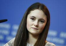 Cast member Lea van Acken attends a news conference to promote the movie Kreuzweg (Station of the Cross) at the 64th Berlinale International Film Festival in Berlin February 9, 2014. REUTERS/Thomas Peter (