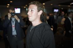 Facebook CEO Mark Zuckerberg leaves the stage after an onstage interview for the Atlantic Magazine in Washington, September 18, 2013. REUTERS/Jonathan Ernst
