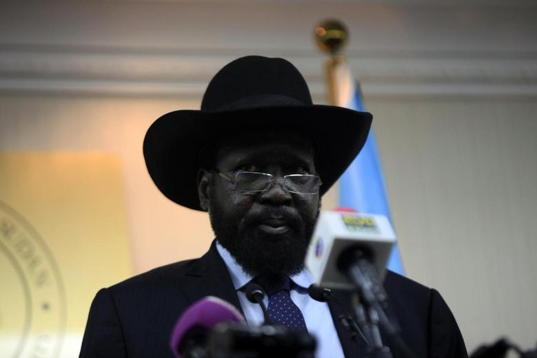 South Sudan's President Salva Kiir holds a news conference in Juba January 20, 2014. REUTERS/Andreea Campeanu