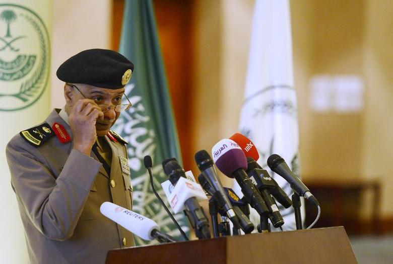 Saudi Arabia's Interior Ministry spokesman Mansour Turki listens to a question during a news conference in Riyadh March 24, 2013. REUTERS/Stringer