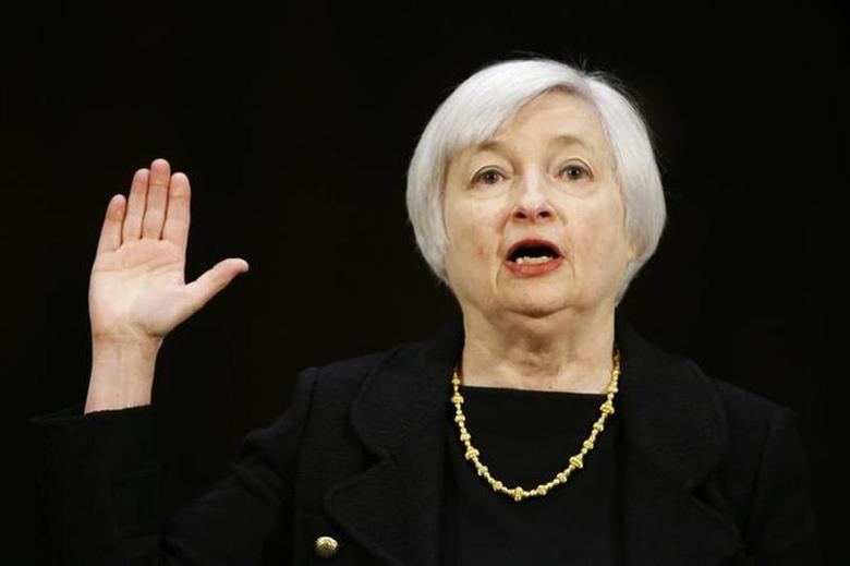 Janet Yellen, President Barack Obama's nominee to lead the U.S. Federal Reserve, is sworn in to testify at her U.S. Senate Banking Committee confirmation hearing in Washington November 14, 2013. REUTERS/Jason Reed/Files