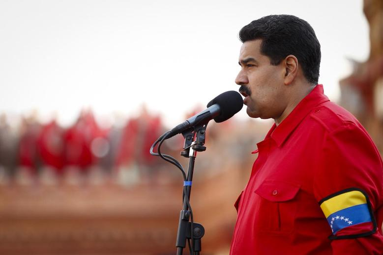 Venezuela's President Nicolas Maduro speaks during a ceremony commemorating the 22nd anniversary of late Venezuelan President Hugo Chavez's attempted coup d'etat in Caracas February 4, 2014. REUTERS/Carlos Garcia Rawlins