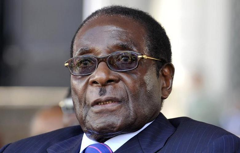 Zimbabwe's President Robert Mugabe attends the swearing-in ceremony of his Mozambican counterpart Armando Guebuza for a second term in office in the capital Maputo, January 14, 2010 file photo. REUTERS/Grant Lee Neuenburg