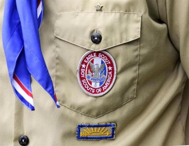 An Eagle Scout patch is pictured in Orlando, Florida in this May 30, 2012 file photograph. REUTERS/David Manning/Files