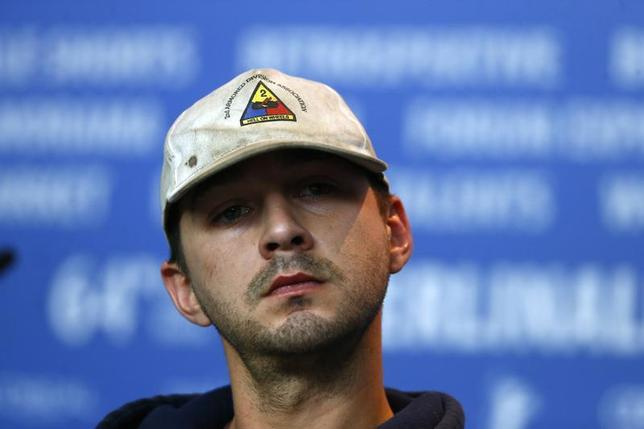 Cast member Shia LaBeouf attends a press conference to promote the movie ''Nymphomaniac Volume I'' during the 64th Berlinale International Film Festival in Berlin February 9, 2014. REUTERS/Tobias Schwarz