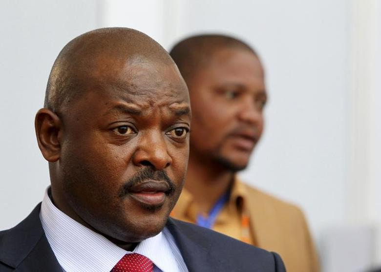Burundi's President Pierre Nkurunziza leaves after the closing ceremony of the 14th annual Francophonie summit in Kinshasa October 14, 2012. REUTERS/Noor Khamis