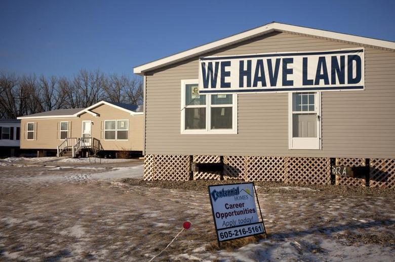 Available land signs are shown in Williston, North Dakota on February 10, 2014. REUTERS/Annie Flanagan