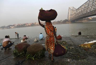 On the banks of the Ganges