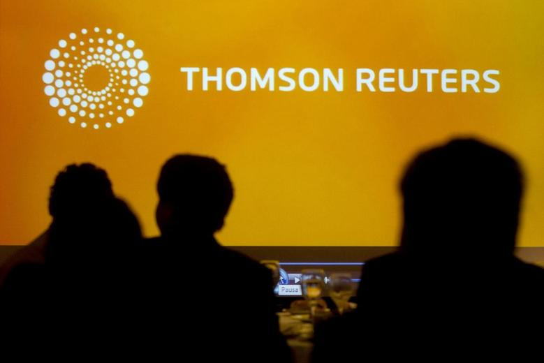 A logo of Thomson Reuters is seen during the Reuters Economic Forum at Santiago, November 8, 2013. REUTERS/Claudio Reyes