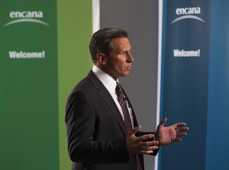 Doug Suttles of EnCana speaks to the media after the company announced him as the new president and CEO in Calgary, Alberta, June 11, 2013. REUTERS/Todd Korol