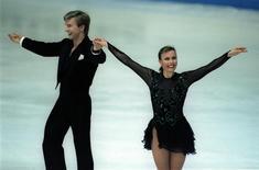 British skaters Jayne Torvil and Christopher Dean at the European Championships in 1994- RTXFHN5