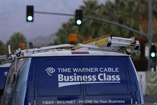 A Time Warner Cable installation van is shown in Palm Springs, California January 29, 2014. REUTERS/Sam Mircovich