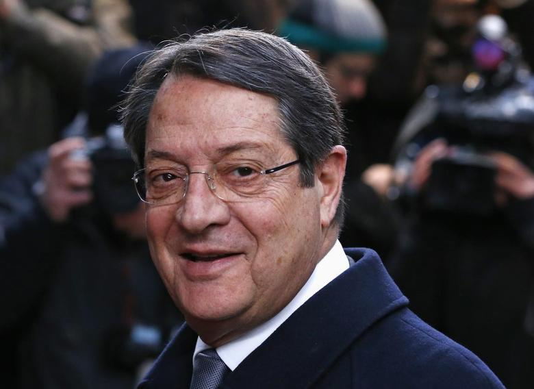Cyprus' President Nicos Anastasiades arrives at a European Union leaders summit at the EU council headquarters in Brussels December 20, 2013. REUTERS/Yves Herman