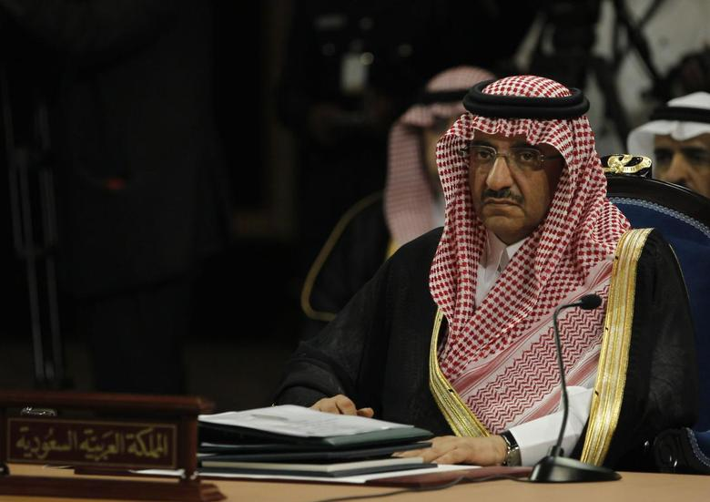 Saudi Interior Minister Prince Mohammed bin Nayef al Saud attends the opening session of GCC Interior Ministers' Conference in Manama April 23, 2013. REUTERS/Hamad I Mohammed