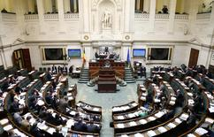 The lower house of the Belgian Parliament is seen during its plenary session in Brussels February 13, 2014. REUTERS/Francois Lenoir