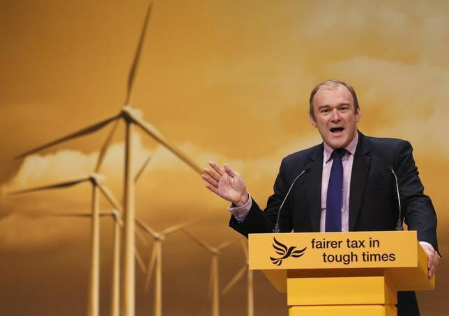 Britain's Secretary of State for Energy and Climate Change Ed Davey speaks speaks during the Liberal Democrats annual conference in Brighton, southern England September 23, 2012 file photo. REUTERS/Luke MacGregor