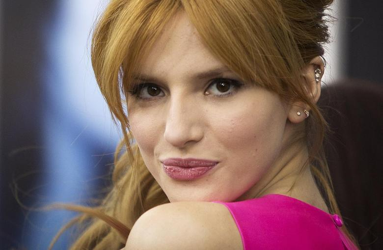 Actress Bella Thorne arrives for the premiere of the movie ''Winter's Tale'' in New York February 11, 2014. REUTERS/Carlo Allegri